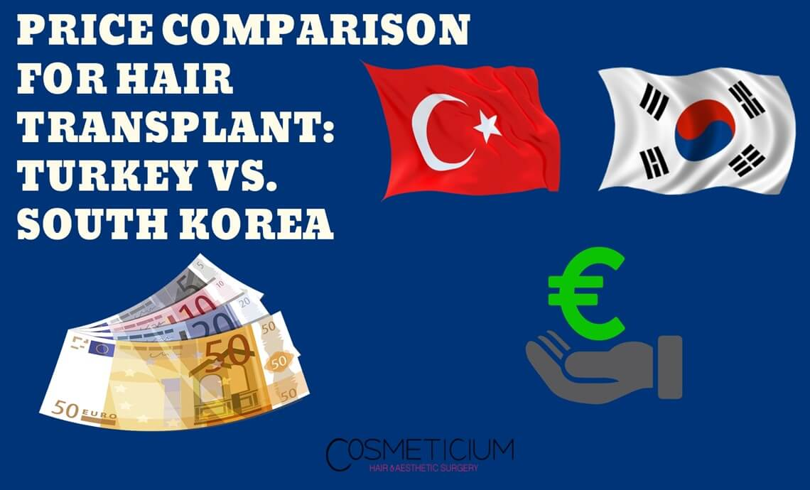 Hair Transplantation Price Comparison Turkey South Korea