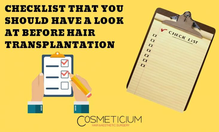 Hair Transplantation Checklist