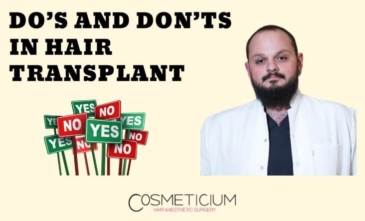Pay attention to these before and after Hair Transplantation
