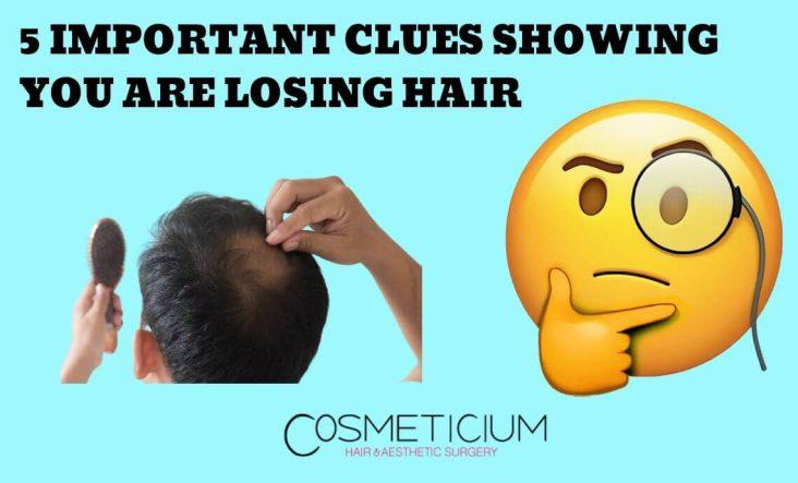 Signs of losing hair
