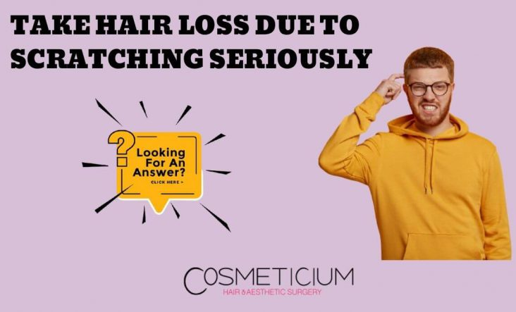 Hair Loss Due to Scratching